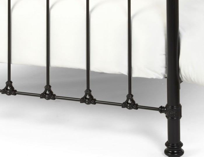 Abigail Black and Dark Brass Metal Bed Frame