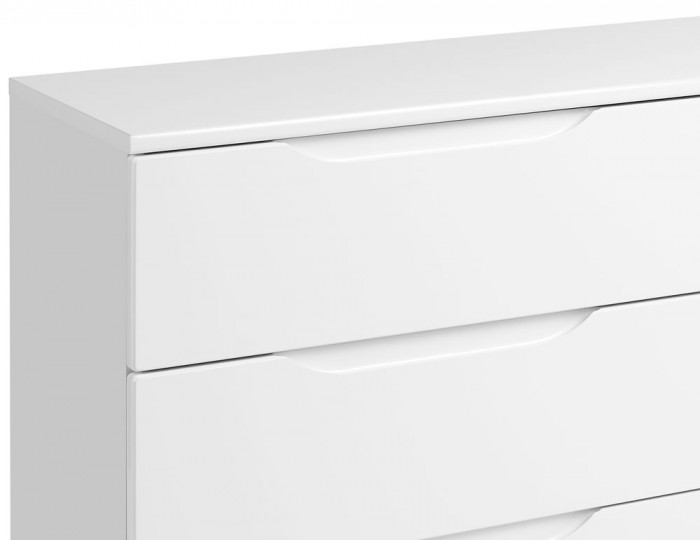 Trend 6 Drawer White High Gloss Chest