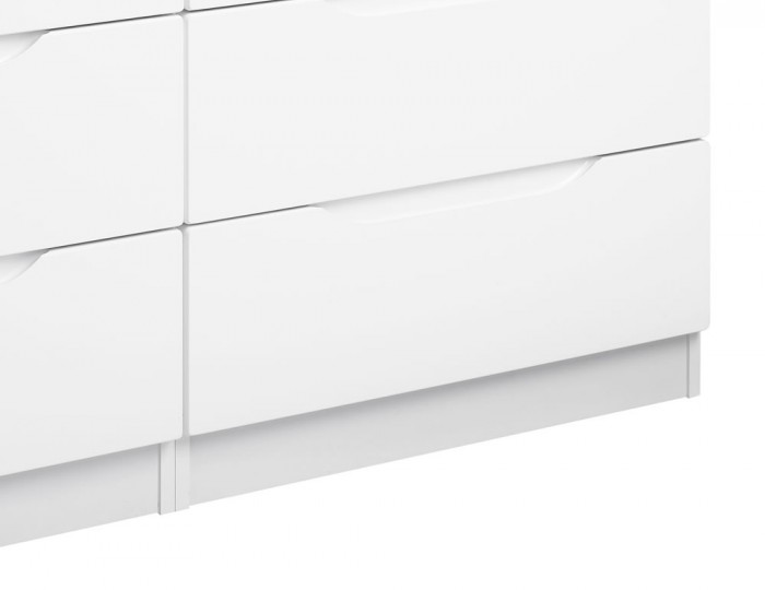 Trend 8 Drawer White High Gloss Chest