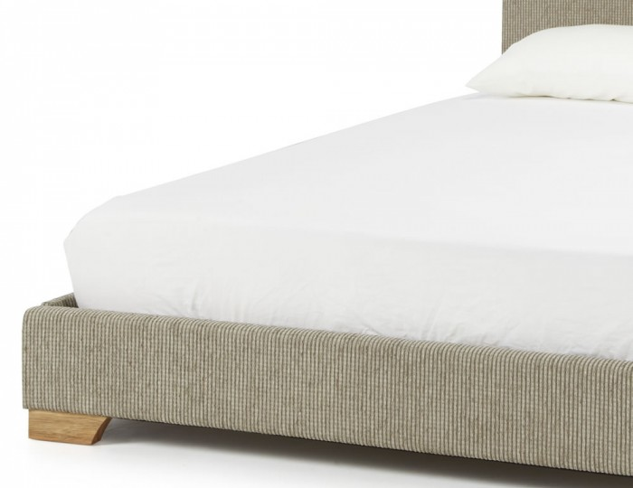 Nora Latte Fabric Bed Frame