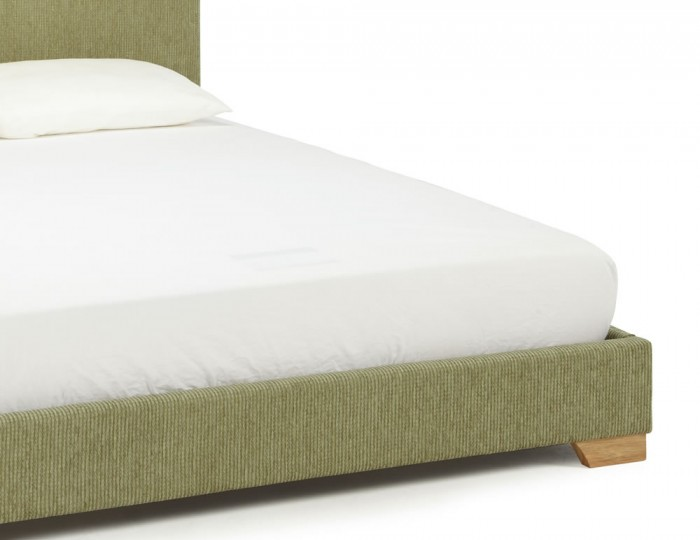 Nora Mint Fabric Bed Frame
