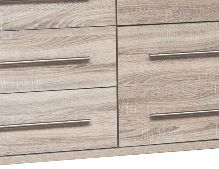 Henderson Light Oak 6 Drawer Wide Chest