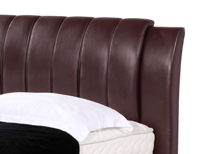 Cordoba Chestnut Faux Leather Bed
