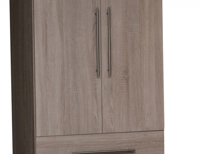 Henderson Dark Oak 2 Door 2 Drawer Wardrobe