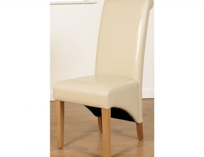 Nico Ivory Faux Leather Dining Chairs