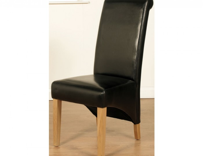 furniture dining chairs benches nico black faux leather dining