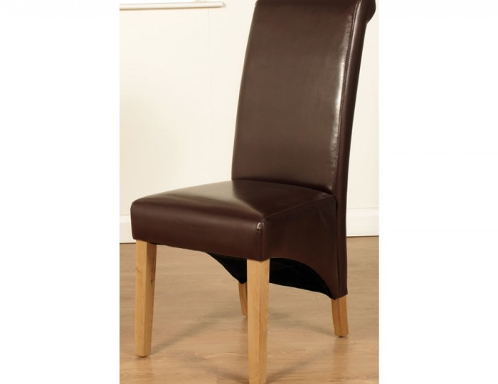 Nico Brown Faux Leather Dining Chairs