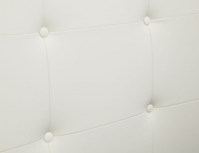Cherish White Faux Leather Ottoman Bed