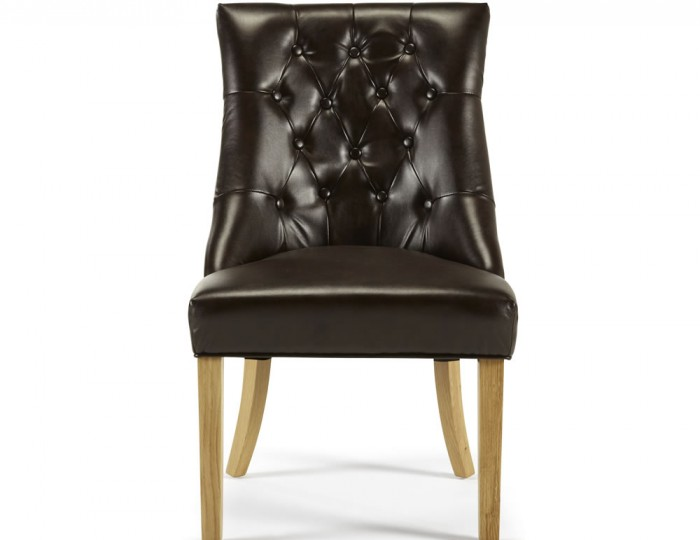 Horndon Brown Bonded Leather Dining Chairs