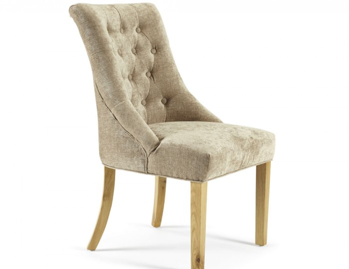 Horndon Mink Fabric Dining Chairs
