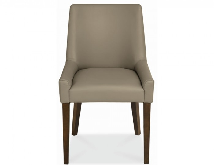 Rayton Scoop Back Olive Bonded Leather Dining Chairs