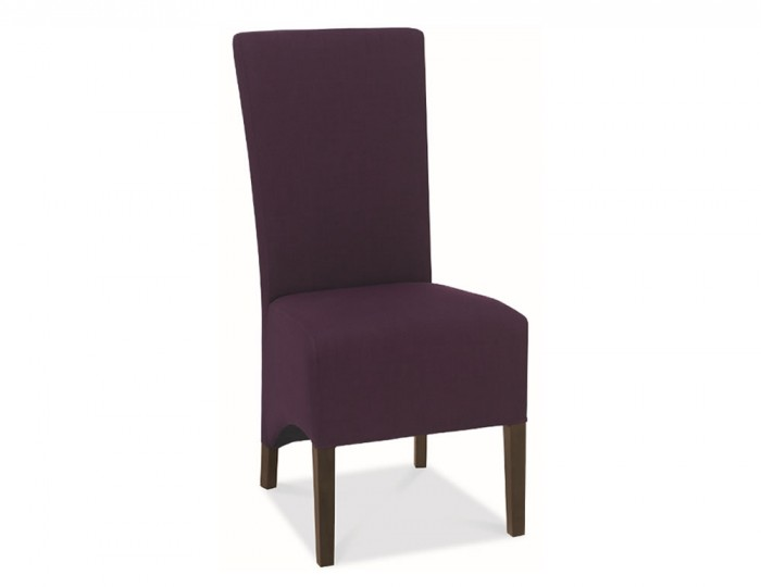 Plum dining chairs plum velvet back dining chairs set of for Plum dining room chairs