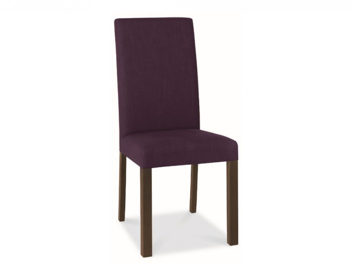 Parker walnut and plum upholstered dining chairs for Plum dining room chairs