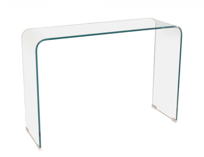 Packard Clear Glass Console Table