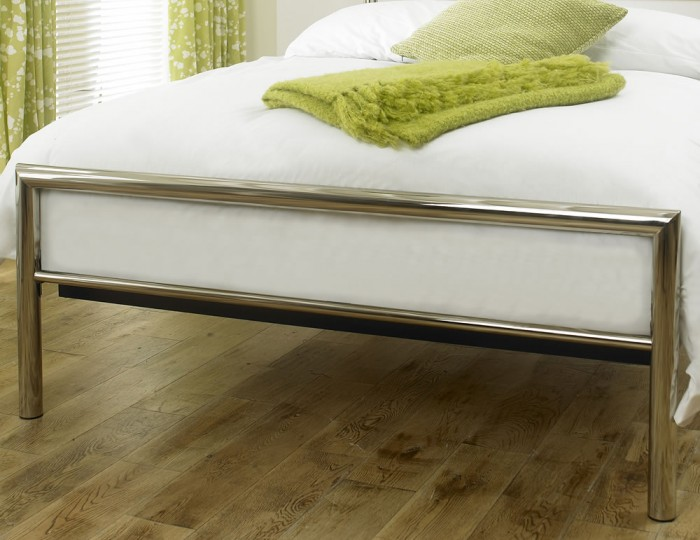 Virgo Chrome Metal Bed Frame