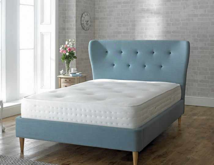 King Bed Frame With Headboard Upholstered