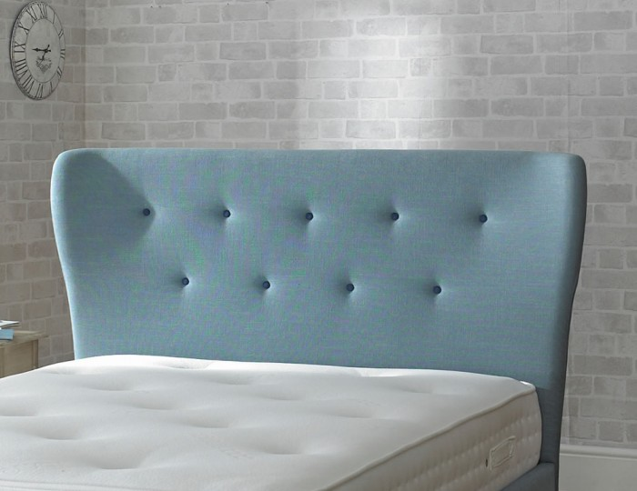 Alaska Duck Egg Blue Upholstered Bed Frame
