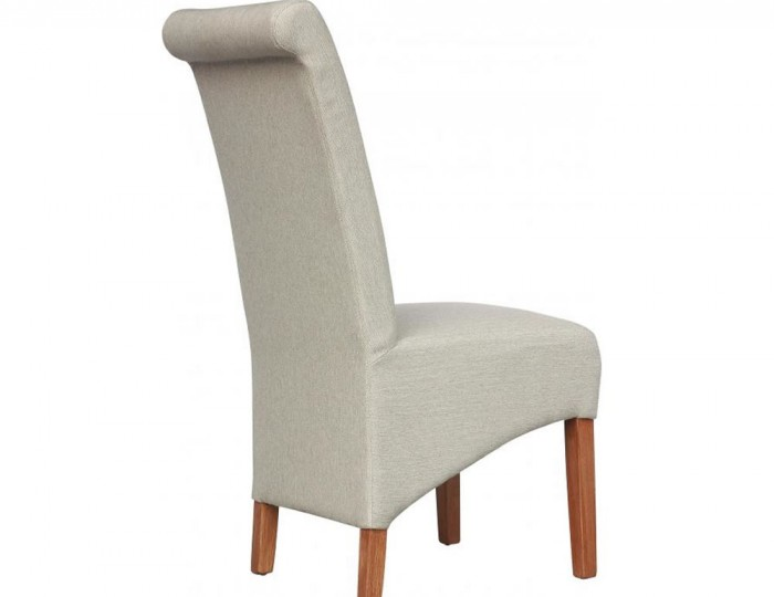 Lakemere Cappuccino Plain Herringbone Fabric Dining Chairs