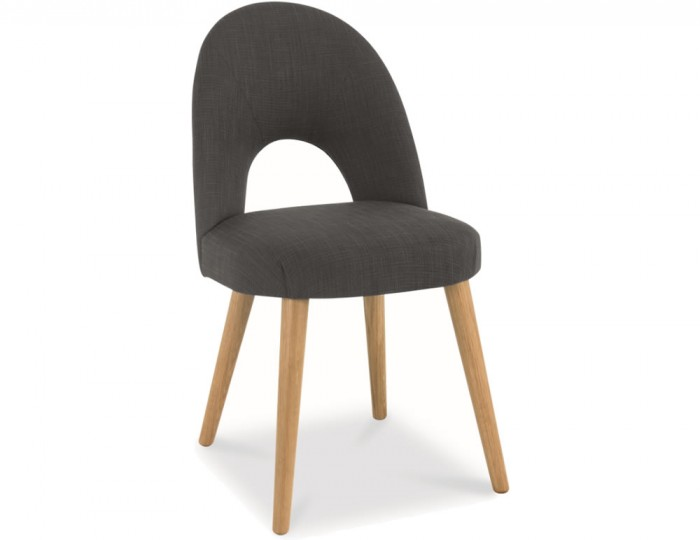 Orbit Steel Charcoal Upholstered Dining Chair *Special Offer*
