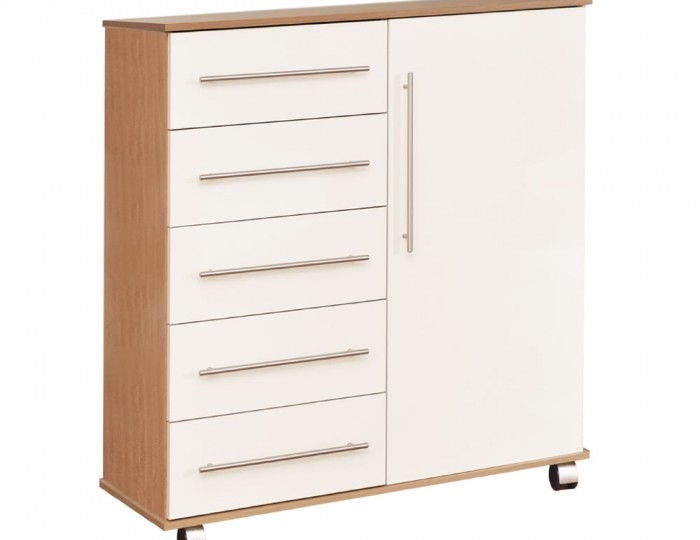 Watson High Gloss 5 Drawer Combi Chest