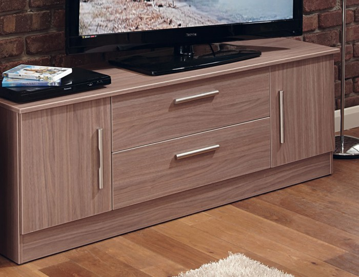 Wexford Walnut 2 Door 2 Drawer Wide TV Unit