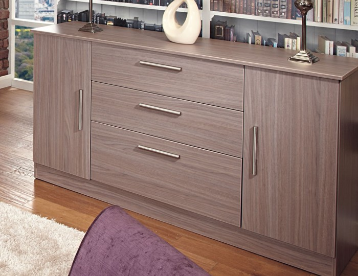 Wexford Toronto Walnut 2 Door 3 Drawer Sideboards