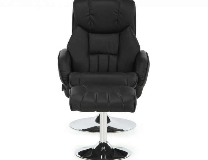 Farris Black Faux Leather Recliner Chair