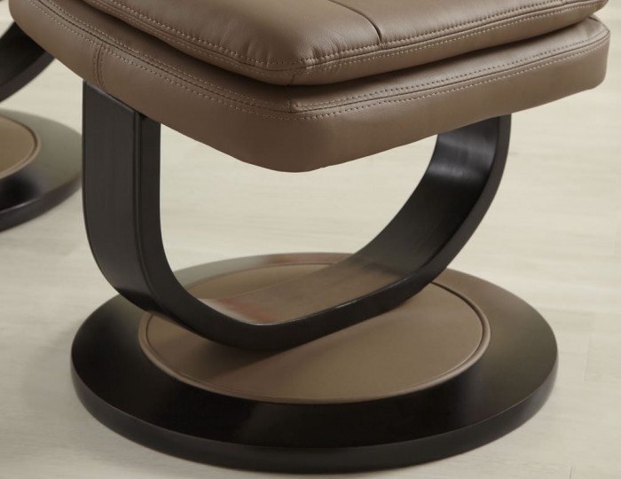 Finley Brown Bonded Leather Recliner Chair