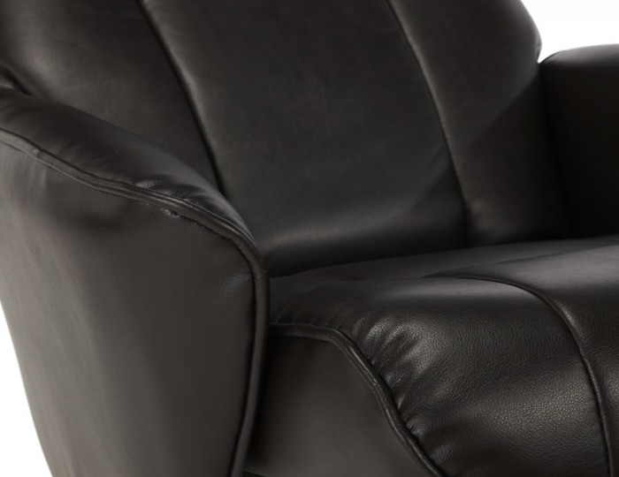 Jeremy Brown Faux Leather Recliner Chair and Stool