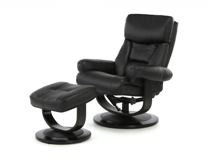 Jordan Black Bonded Leather Recliner Chair