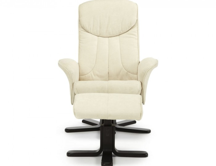 Olsen Pearl Fabric Massage Recliner Chair and Stool