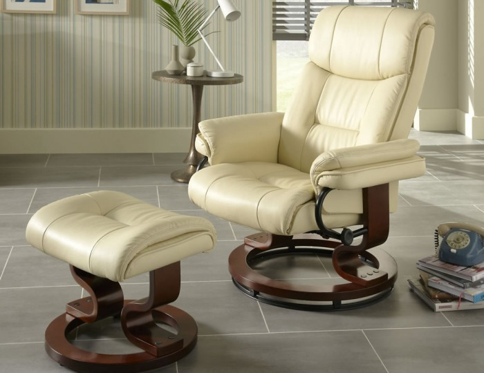 Spencer Cream Faux Leather Recliner Chair Frances Hunt