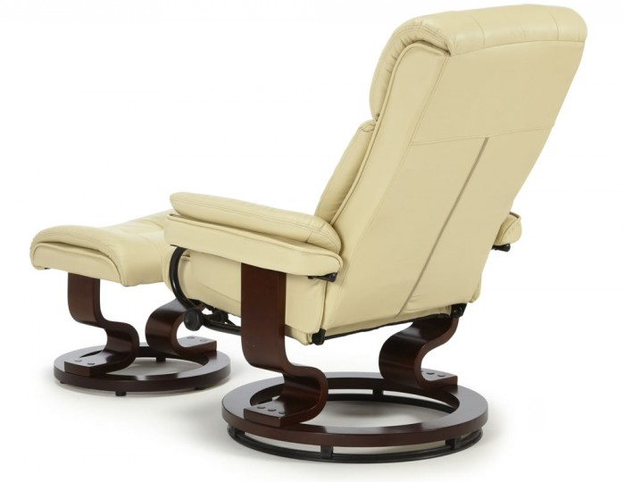 Spencer Cream Faux Leather Recliner Chair