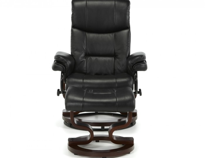 Spencer Black Faux Leather Recliner Chair
