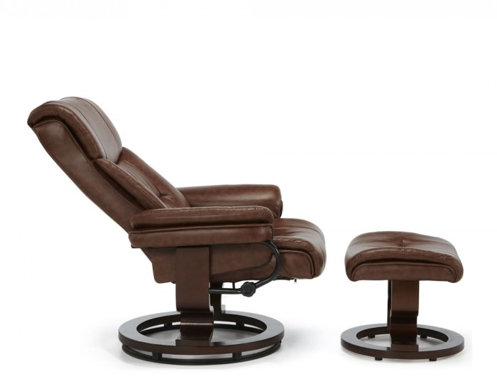 Spencer Chestnut Brown Faux Leather Recliner Chair