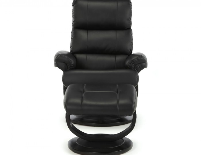 Strava Black Faux Leather Recliner Chair