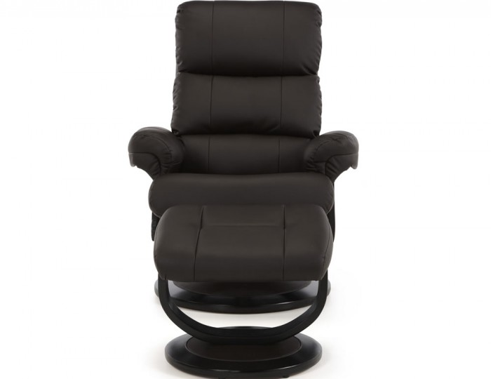 Strava Brown Faux Leather Recliner Chair