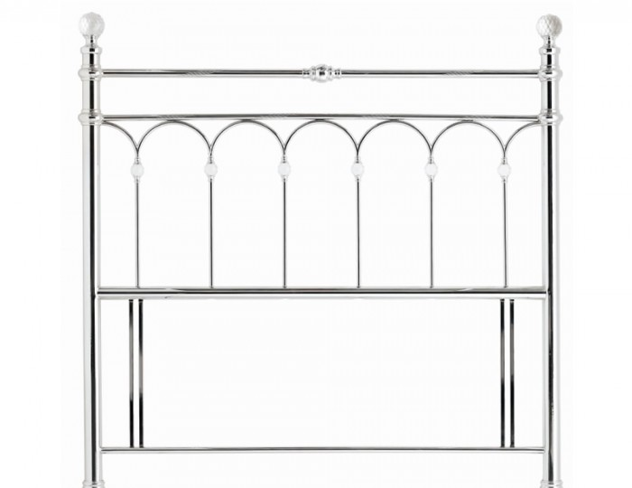 Krystal Shiny Chrome Metal Headboard