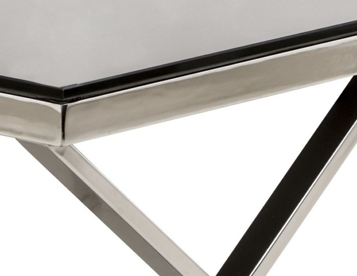 Hamilton Black Glass Lamp Table