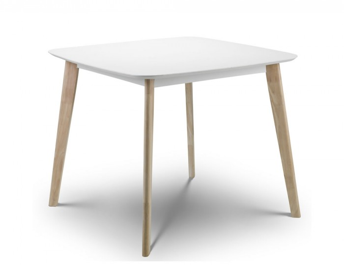 Madeira white lacquer dining table for White lacquer dining table