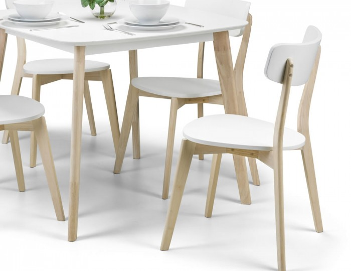 Madeira White Lacquer Dining Set