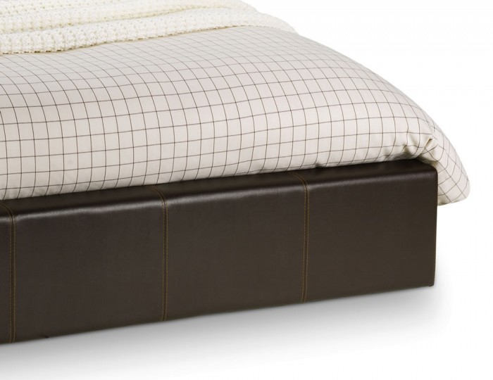 Helios Brown Faux Leather Ottoman Bed