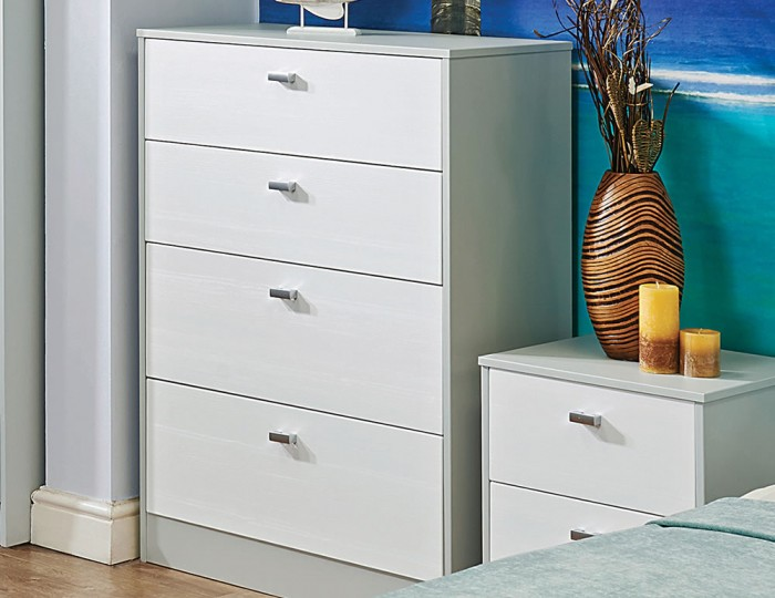Jeremiah White and Kaschmir 4 Drawer Chest