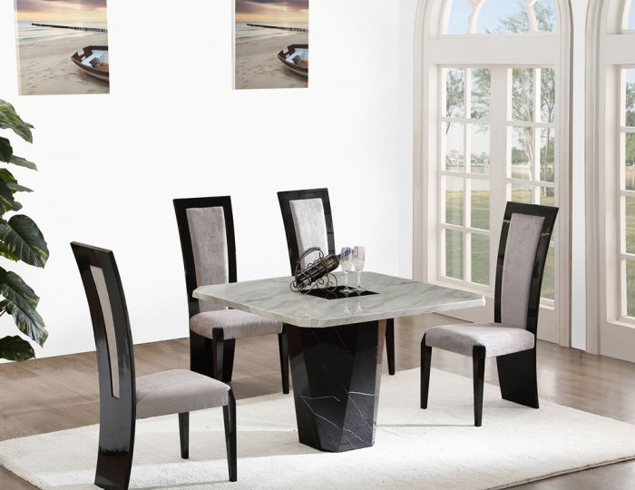 Houston Marble Effect Dining Table And Chairs Table Option Dining