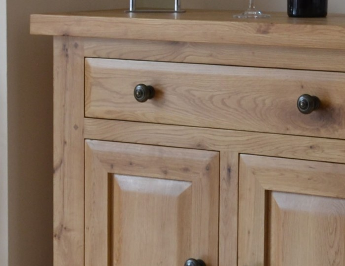 Roche Solid Oak 2 Door Small Sideboard