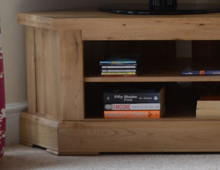 Roche Solid Oak Corner TV Unit