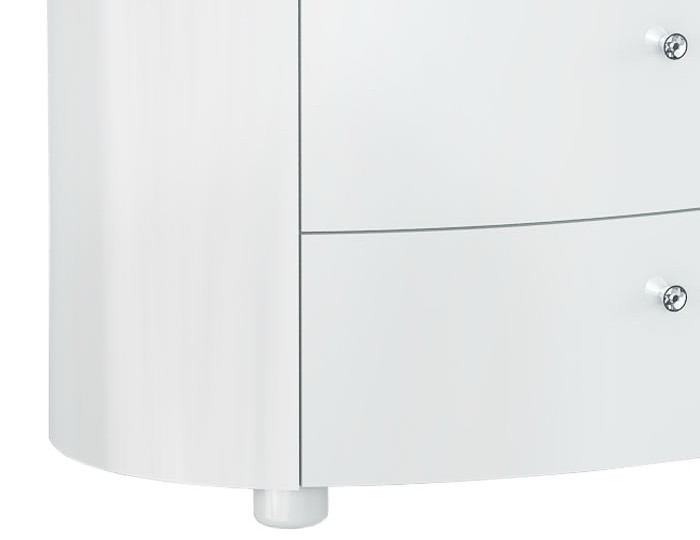 Pryce White Gloss 3 Drawer Chest