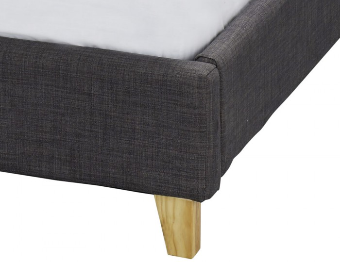 Duffield Charcoal Upholstered Bed Frame