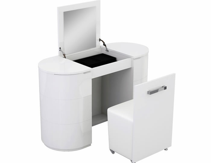 Pryce Single White Gloss Dressing Table