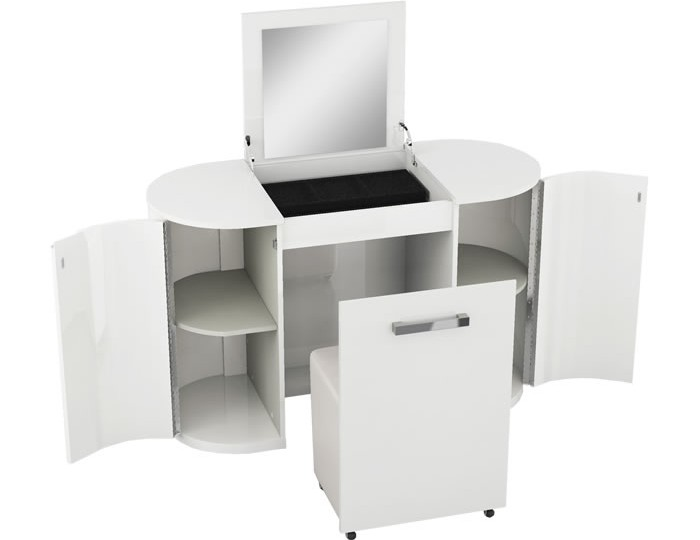 Pryce White Gloss Dressing Table